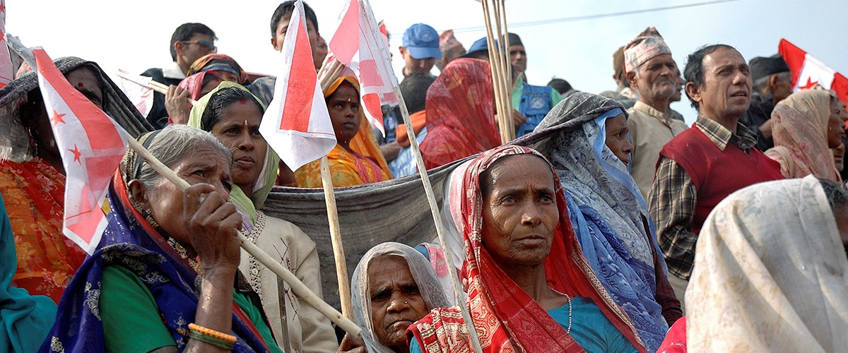 Members of the Madheshi community of Biratnagar attend a political rally to demand autonomous federal regions and greater representation in parliament (2008). UN Photo/Agnieszka Mikulska, http://www.un.org/en/events/democracyday/messages.shtml